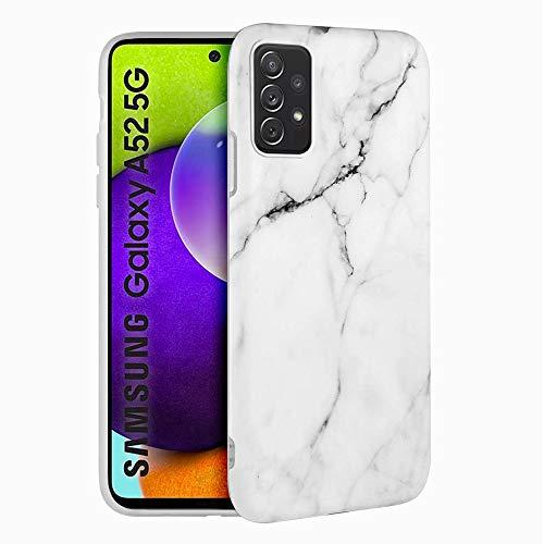 Funda para Samsung Galaxy A52 5G Carcasa Mármol Suave Silicona, E-Lush...