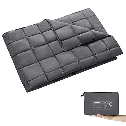 "KingCamp Blanket Multipurpose KingLoft 250g Packable Lightweight Down Alternative Waterproof Warm Sleeping Bag 69""x 53"" for Camping Backpacking Traveling"