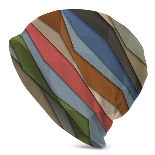 Fodmua Color Origami Secado Rápido Estirable Caliente Al Aire Libre Beanie Sombrero Hombres Mujeres