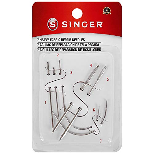 SINGER 01025 Heavy Duty Household Hand Needles, 1 Canvas, 1 Carpet, 1 Leather, 1 Sacks, 1 Sail, 2 Upholstery
