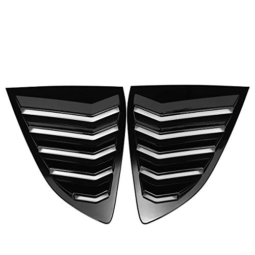 ACD Hintere Seitenscheibe Louver Cove, EIN Paar Glossy Black Auto-hintere Seitenscheibe Louver Umfaßt Ordnung Luftaustritt Shutter Luftaustritt Fit for CRV CRV 2017-2020 (Color : Black)