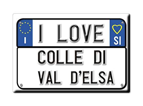 Enjoymagnets Colle di Val D'ELSA CALAMITA Magnete Toscana (Si) Fridge Magnet Souvenir Love (VAR. Targa)