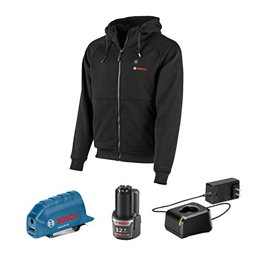 Bosch GHH12V-20XXLN12 12V Max Heated Hoodie Kit with Portable Power Adapter - Size XXLarge