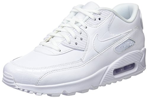 Nike WMNS Air Max 90, Chaussures de Gymnastique Femme, Blanc (White/White-White 133), 44.5 EU