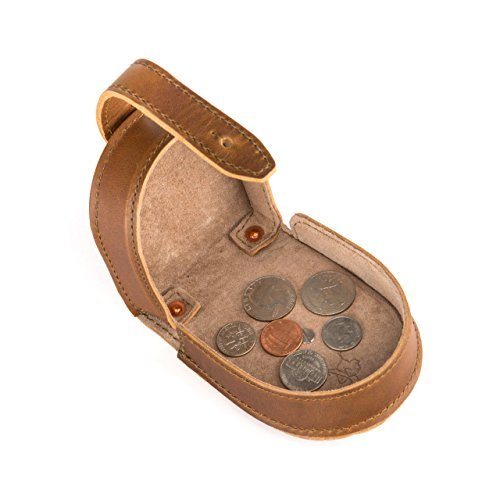 Saddleback Leather Co. Clasp Coin Purse for Men Leather Change Holder Includes 100 Year Warranty