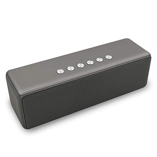 Portable Wireless Bluetooth Speaker Mini Outdoor Computer Speaker 3D Surround Sound, TF Card Slot, USB Flash Drive, AuxFM Radio Best for Parties, Camping and Outdoor,Gray