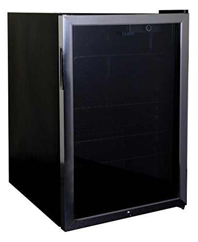 Haier HBCN05FVS 150-Can Beverage Center,Black