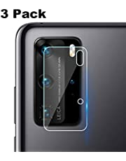 XINKOE Back Camera Lens Screen Protector for Huawei P40 Pro, [3 Pack] Ultra-Thin 2.5D HD Camera Lens Tempered Glass Protector Film - Transparent