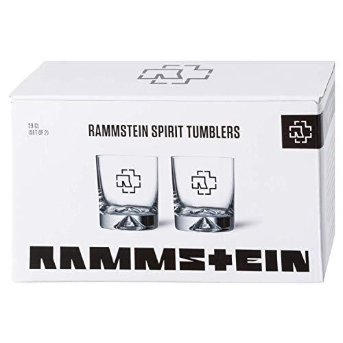 "Rammstein Tumbler ""Logo"" 2er Box 0,29l Glas, Offizielles Band Merchandise"