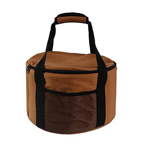Bolsa de almacenamiento de utensilios de cocina para acampar, grande, redonda, impermeable, al aire libre, utensilios para picnic, contenedores, soporte, vajilla, bolsa de transporte, organizador