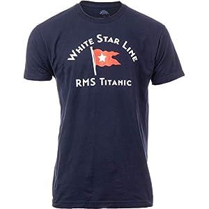White Star Line RMS Titanic Crew | Historic Nautical Sailing Sailor Boating Boater Cruise Cruising T-Shirt for Men Women