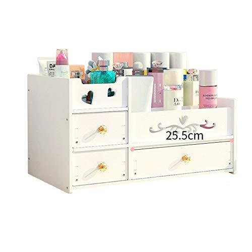 Totovy Caja de almacenamiento cosmética clásica europea de gran capacidad Verde a prueba de polvo y antivaho con estantes for cajones...