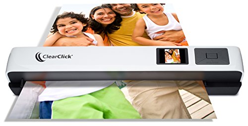 "ClearClick Photo & Document Scanner with 1.45"" Preview LCD, 4 GB Memory Card, OCR Software"