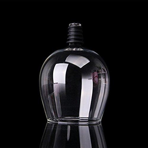 Copa de cristal de champán de vino tinto creativo con bebida de sello de silicona directamente desde la botella de la bandeja de la barra de la bandeja de la bandeja de cristal de cristal 401-500 ml
