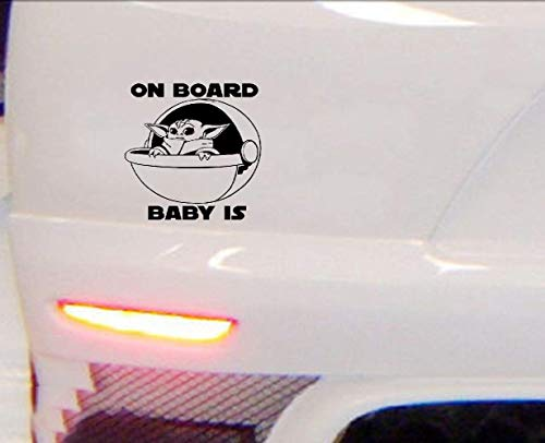 20cm Auto Aufkleber Aufkleber Baby Yoda On Board Aufkleber VINYL DECAL Sci-Fi Star Wars The Mandalorean