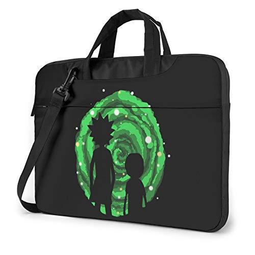 Rick D Morty Laptop Bag Water-Resistant Laptop Sleeve Case with Shoulder Straps & Handle/Notebook Computer Case Briefcase Compatible 13 inch