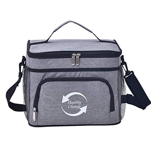 QPY Bolsa de picnic aislada, 14 l, bolsa térmica térmica para comida para llevar pizza, para viajes, picnic, camping, compras, etc.