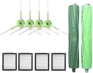 IRobot ルンバ i7 I7+ E5 E6 ヘパフィルター,エッジクリーニングブラシ,デュアルアクションブラシ,布ゴミ袋 ロボット掃除機 交換用消耗品アクセサリー 交換パーツ 10入セット(2+4+4)