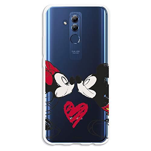 Funda para Huawei Mate 20 Lite Oficial de Clásicos Disney Mickey y Minnie Beso para Proteger tu móvil. Carcasa para Huawei de Silicona Flexible...
