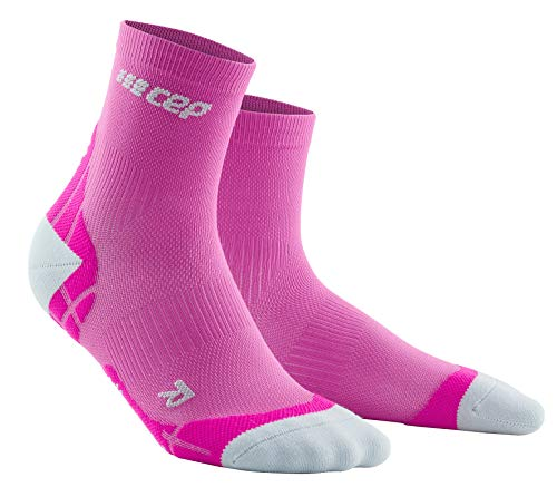 CEP – Ultralight Compression Short Socks für Damen | Kurze Sportsocken mit Kompression in pink/hellgrau | Größe III