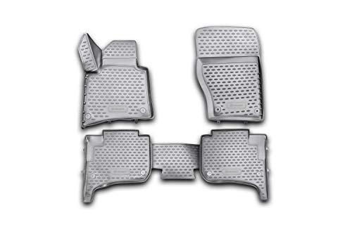 Element EXP.NLC.3D.51.31.210k Passgenaue Premium Antirutsch Gummimatten Fußmatten VW Touareg Porsche Cayenne II Zwei-Zonen-Klimatisierung, Schwarz, Passform