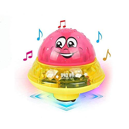 Aokebeey Kinderbad Wasserball Badespielzeug Automatische Induktionsspray Wasserbadspielzeug Kinder Treiben Schwimmbecken Spielzeug - Rot mit Sockel