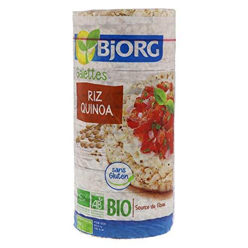 Bjorg Galettes Riz Quinoa Bio - Sans gluten - Céréale complète - 130 g
