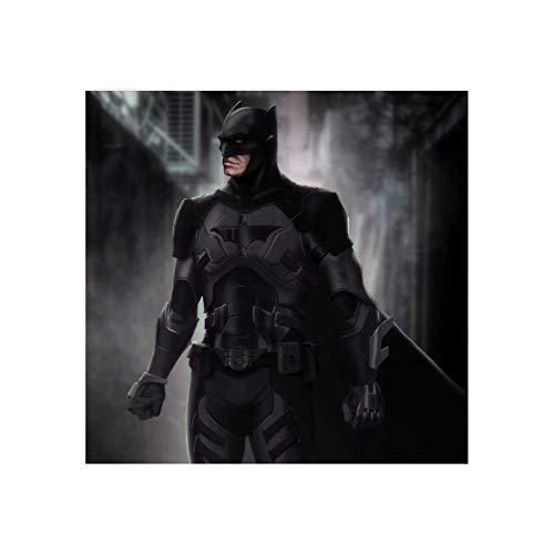 Arte de pared con marco moderno de moda, traje de Batman, lienzo de estilo para sala de estar enmarcado-50 x 50 cm