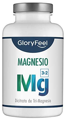 GloryFeel Citrato de Magnesio - 360 mg Magnesio Elemental - 200 Cápsulas - Función Muscular, disminuye el cansancio y la fatiga, mejora el rendimiento deportivo