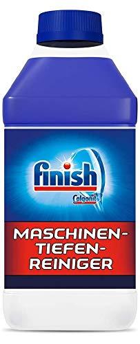 Finish Maschinentiefenreiniger – Flüssiger Maschinenreiniger gegen Kalk und Fett für eine tiefengereinigte Spülmaschine – Sparpack mit 2 x 250 ml Maschinenpfleger