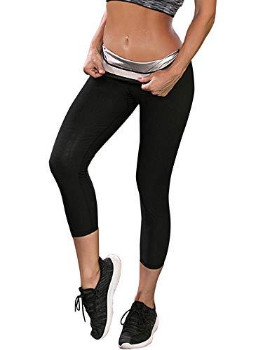 HOMETA Women Polymer Sweat Leggings Weight Loss Slimming Yoga Leggings High Waist Sauna Capris Pants Thermo Sweat Body Shaper