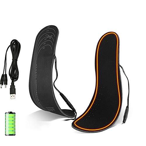 SMAA Plantillas climatizada, USB Carga eléctrica calienta Las Plantillas del Zapato, más cálidas Controles Temperatura Incorporado en la batería Litio 2000mAh pies, Invierno, Caza, Pesca, Send