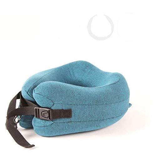 Memoria de espuma de viaje Cuello de almohada Cabeza de almohada Corbata de apoyo Aeroplano Avión Almohada Almohada de oficina Durmiente Viaje Cojín de reposacabezas (Color : Blue, Size : 40x28cm)