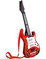 Rockband Music Toy Guitar, Red and Black