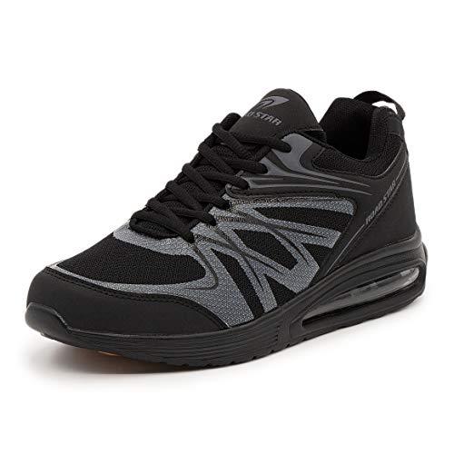 LEKANN No.308 - Zapatillas de deporte para hombre, con amortiguación y antideslizante, talla 41-46 EU, color Multicolor, talla 49 EU