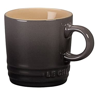 Le Creuset Stoneware Petite Espresso Mug, 3.5-Ounce, Oyster