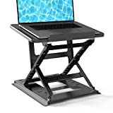 HUANUO Adjustable Laptop Stand for Desk - Easy to Sit or Stand with 9 Adjustable Angles, Laptop Riser Reduces Neck Pain, Fits 15.6 Inch Laptop & Notebook, Height Adjustable Computer & Tablet Riser