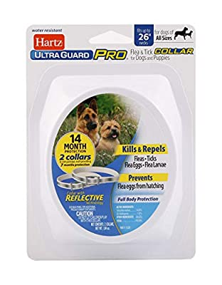 Hartz Ultraguard Pro 2 Pack Reflective Flea & Tick Collars for Dogs & Puppies