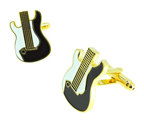 Gemelolandia | Gemelos para Camisa Guitarra Eléctrica Dorada Gemelos Originales Para Camisas...