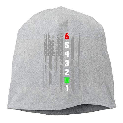 American 1N23456 Unisex Knitted Hat Beanie Hat Warm Hats Skull Cap Beanie Hat