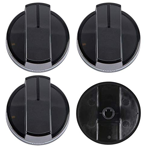 4 pcs W10339442 Range Knob for Whirlpool Gas Range. Surface Burner Control Knob WPW10339442 Replace Part W10339442, WPW10339442VP, 2311008, AP6019877, PS11753188, EAP11753188, W10339443, WPW10339443