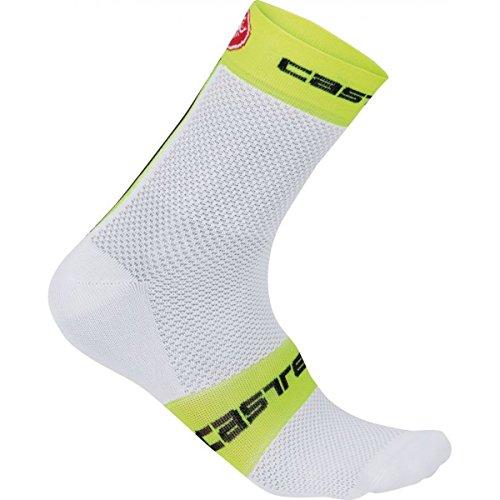 castelli - Free 9 Sock, Color Amarillo,Blanco, Talla EU 44-47