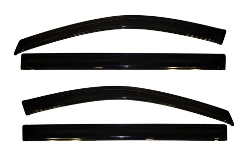 Auto Ventshade 94251 Original Ventvisor Side Window Deflector Dark Smoke, 4-Piece Set for 2008-2018 Grand Caravan, 2008-2016 Town & Country