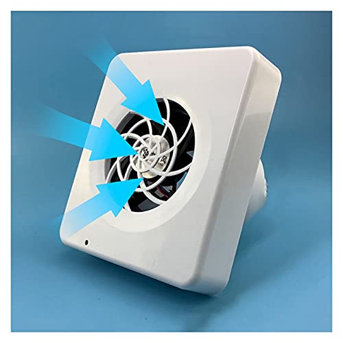 Ventilador extractor Baño de escape de la pared de la pared pequeña a través del baño de la pared del silencio de la pared del escape de la ventilación del ventilador de la frecuencia de la frecuencia