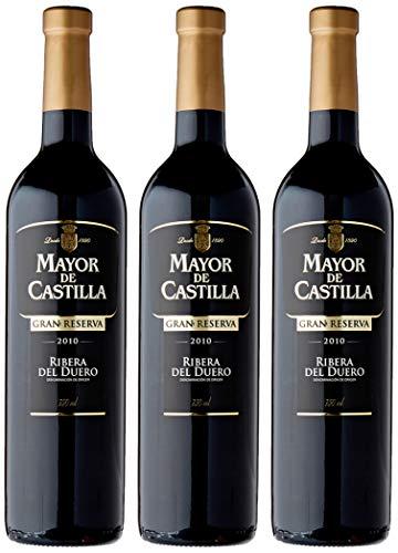 Mayor de Castilla Gran Reserva Vino Tinto D.O Ribera del Duero - Pack de 3 Botellas x 750 ml