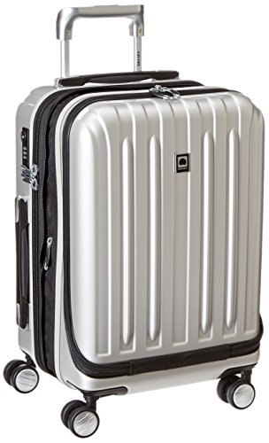 DELSEY Paris Titanium Hardside Expandable Luggage with Spinner Wheels, Silver, Carry-On 19 Inch