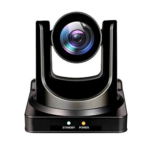 AVKANS NDI Camera, 20X Broadcast Live Streaming PTZ Camera for Church and Live Production, NDI HX 4.0(Black)