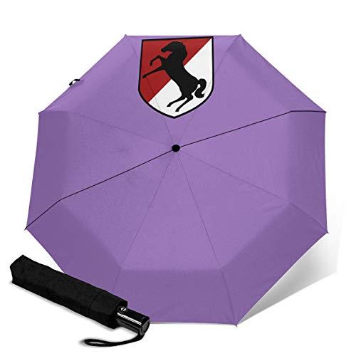 Paraguas Plegable Compacto con Logotipo de Caduceus, Resistente al Viento, para Viaje, Apertura y Cierre automático 11º Regimiento de Caballería Blindada Talla única