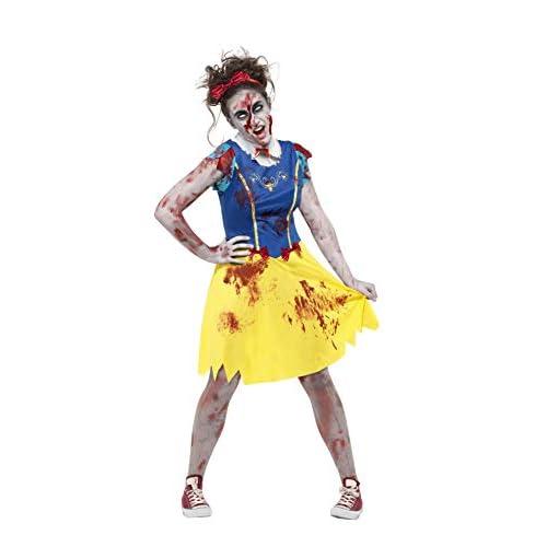 Smiffys Costume Biancaneve zombie, Multicolore, con abito, copricapo e Collare