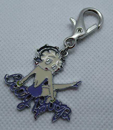 Large dance betty Boop handbag charm keyring fob purple